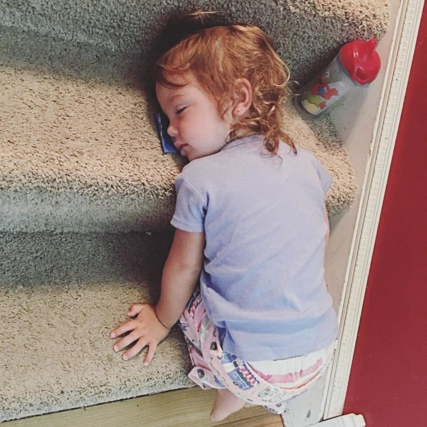 sleepingonthestairs